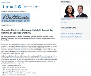 bethesda cosmetic dentist,sedation dentistry,iv sedation,dental anxiety